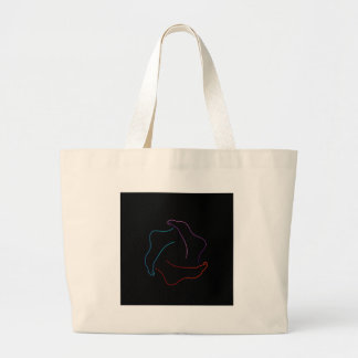Isolated feet diagram canvas bag