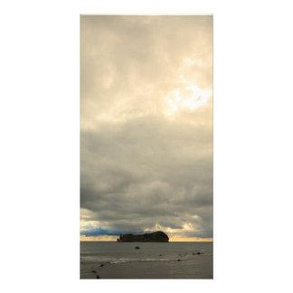 Isolated island customised photo card