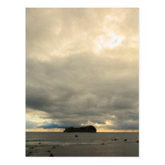 Isolated island postcard