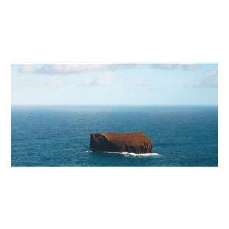Isolated islet customised photo card
