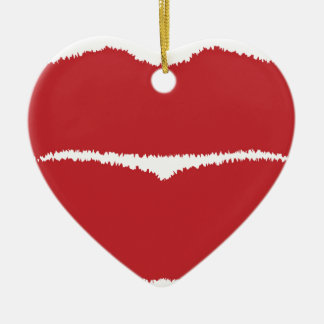 Isolated Lip Kiss Christmas Ornament