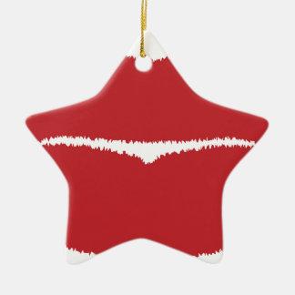 Isolated Lip Kiss Christmas Ornament