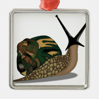 Isolated Snail Christmas Ornament