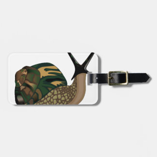 Isolated Snail Luggage Tag