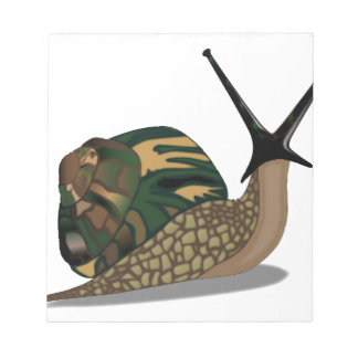 Isolated Snail Notepad