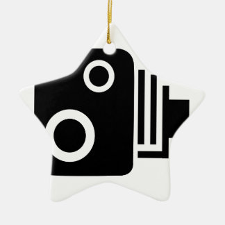Isolated Speed Camera Ceramic Star Decoration