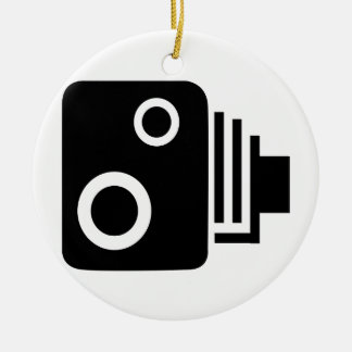 Isolated Speed Camera Christmas Ornament
