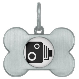 Isolated Speed Camera Pet Name Tag