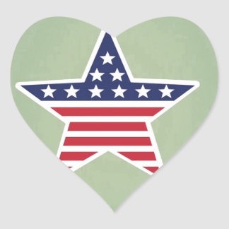 Isolated Star With American Flag Design Sticker