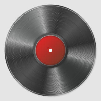 Isolated Vinyl record Classic Round Sticker