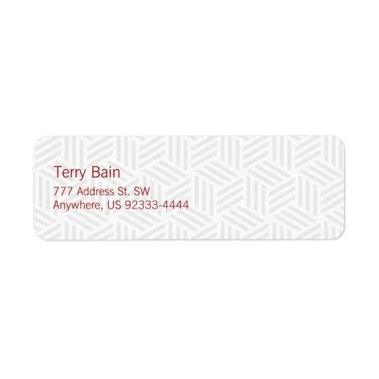 Isometric Weave #FFFFFF Return Address Label
