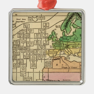 Isothermal chart, productions christmas ornament