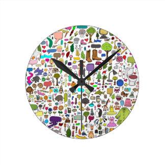 ispy round wall clock