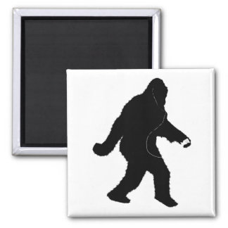 iSquatch (Add Background Colour) Square Magnet