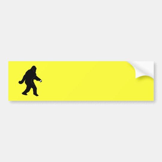 iSquatch (Change Background Colour) Bumper Sticker