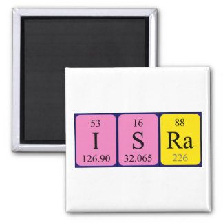 Isra periodic table name magnet