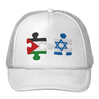 Israel and Palestine Conflict Flag Puzzle Cap