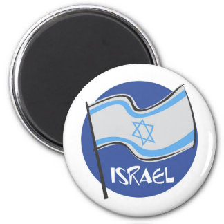 ISRAEL AND PROUD 6 CM ROUND MAGNET