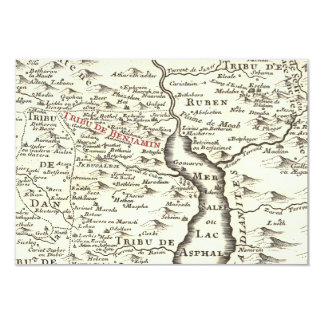 Israel Antique Map Benjamin Bar Mitzvah Thank You 9 Cm X 13 Cm Invitation Card