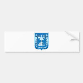israel_armoiries coat of arm. bumper sticker
