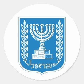 israel_armoiries coat of arm. round sticker