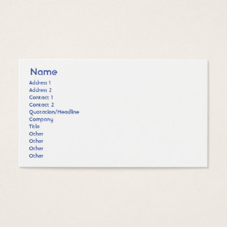 Israel - Business Business Card