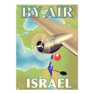 Israel By air vintage travel poster Art Photo