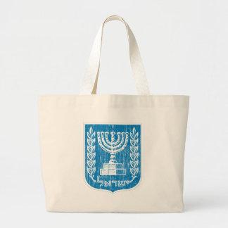 Israel Coat Of Arms Large Tote Bag