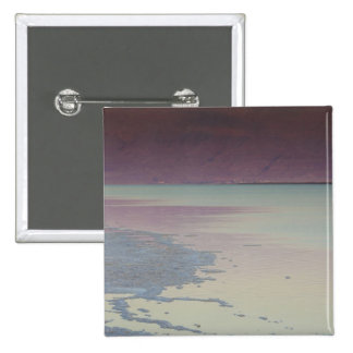 Israel, Dead Sea, Ein Bokek, Dead Sea, dusk 15 Cm Square Badge