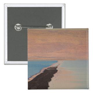 Israel, Dead Sea, Ein Bokek, Dead Sea, dusk 2 15 Cm Square Badge