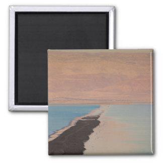 Israel, Dead Sea, Ein Bokek, Dead Sea, dusk 2 Square Magnet