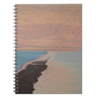 Israel, Dead Sea, Ein Bokek, Dead Sea, dusk 2 Notebooks