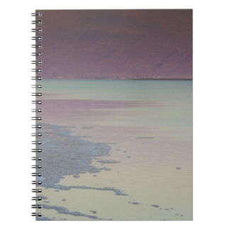 Israel, Dead Sea, Ein Bokek, Dead Sea, dusk Notebooks