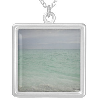 Israel, Dead Sea, seascape Silver Plated Necklace