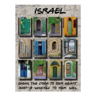 Israel - doors and windows poster