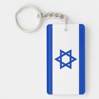 Israel Double-Sided Rectangular Acrylic Key Ring