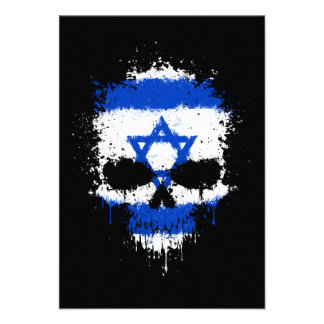 Israel Dripping Splatter Skull Invite