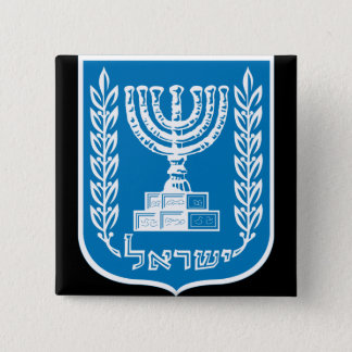 israel emblem 15 cm square badge