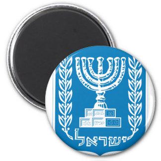 israel emblem 6 cm round magnet