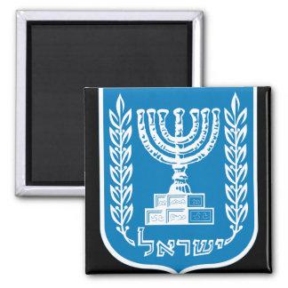 israel emblem square magnet