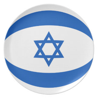 Israel Fisheye Flag Plate