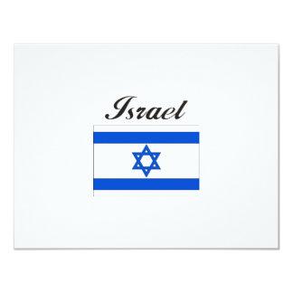 Israel Flag 11 Cm X 14 Cm Invitation Card