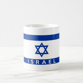 israel flag country text name coffee mug