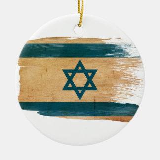 Israel Flag Round Ceramic Decoration