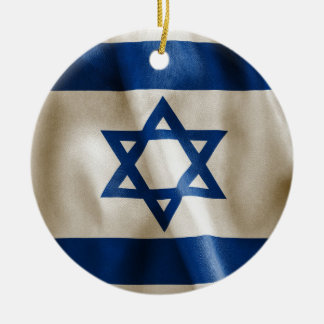 Israel Flag Double-Sided Round Christmas Ornament