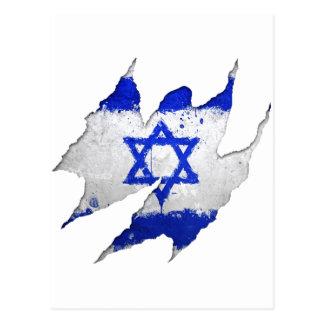 Israel flag graffiti rip postcards