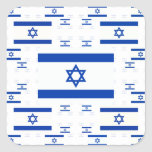 Israel Flag in Multiple Colourful Layers 2