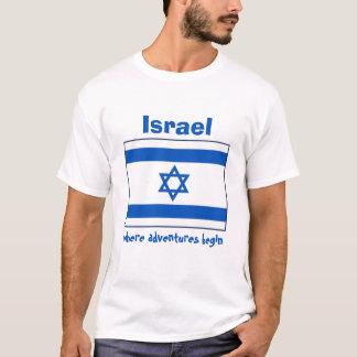 Israel Flag + Map + Text T-Shirt