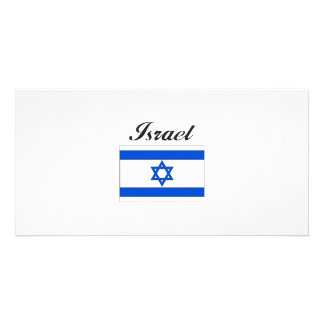 Israel Flag Photo Card Template