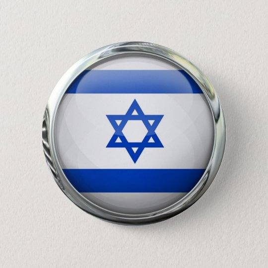 Israel Flag Round Glass Ball 6 Cm Round
